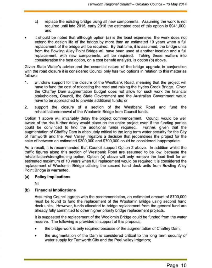 Agenda of Ordinary Meeting - 13 May 20143b