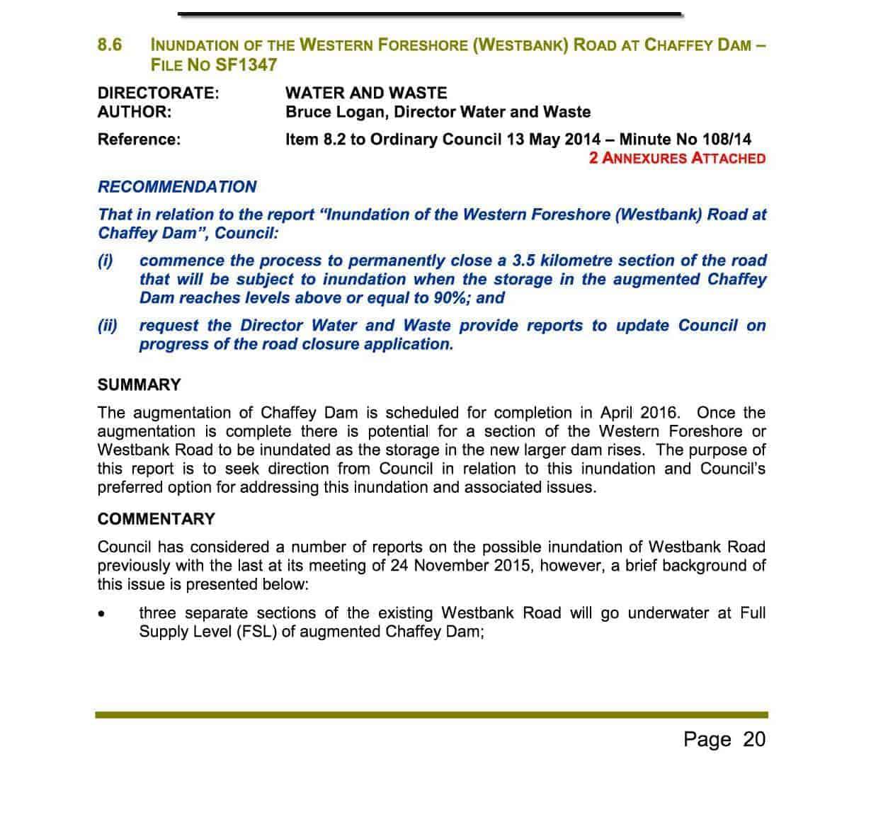 Agenda of Ordinary Meeting - 8 March 2016 WBR1b
