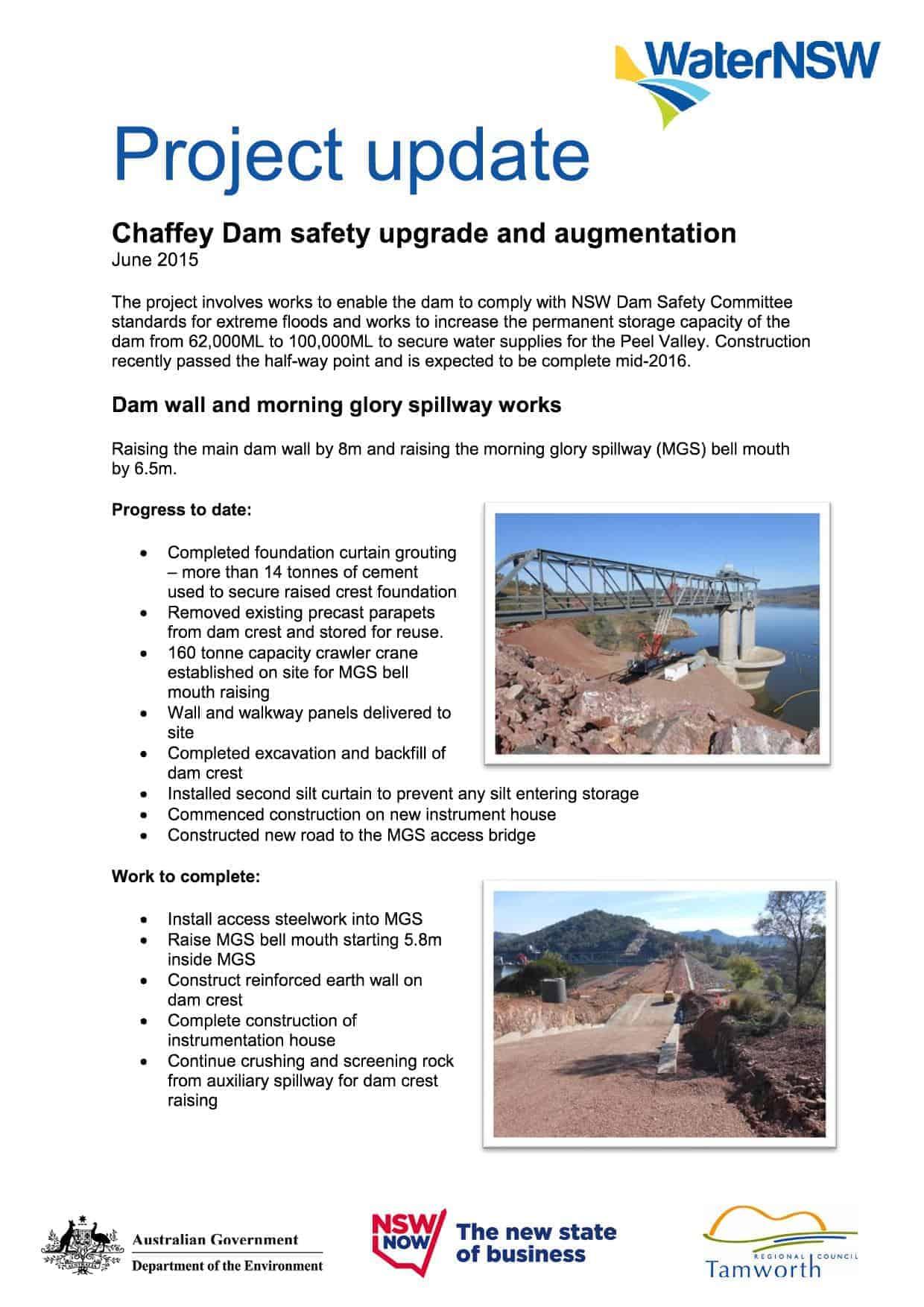 Chaffey project update June 20151